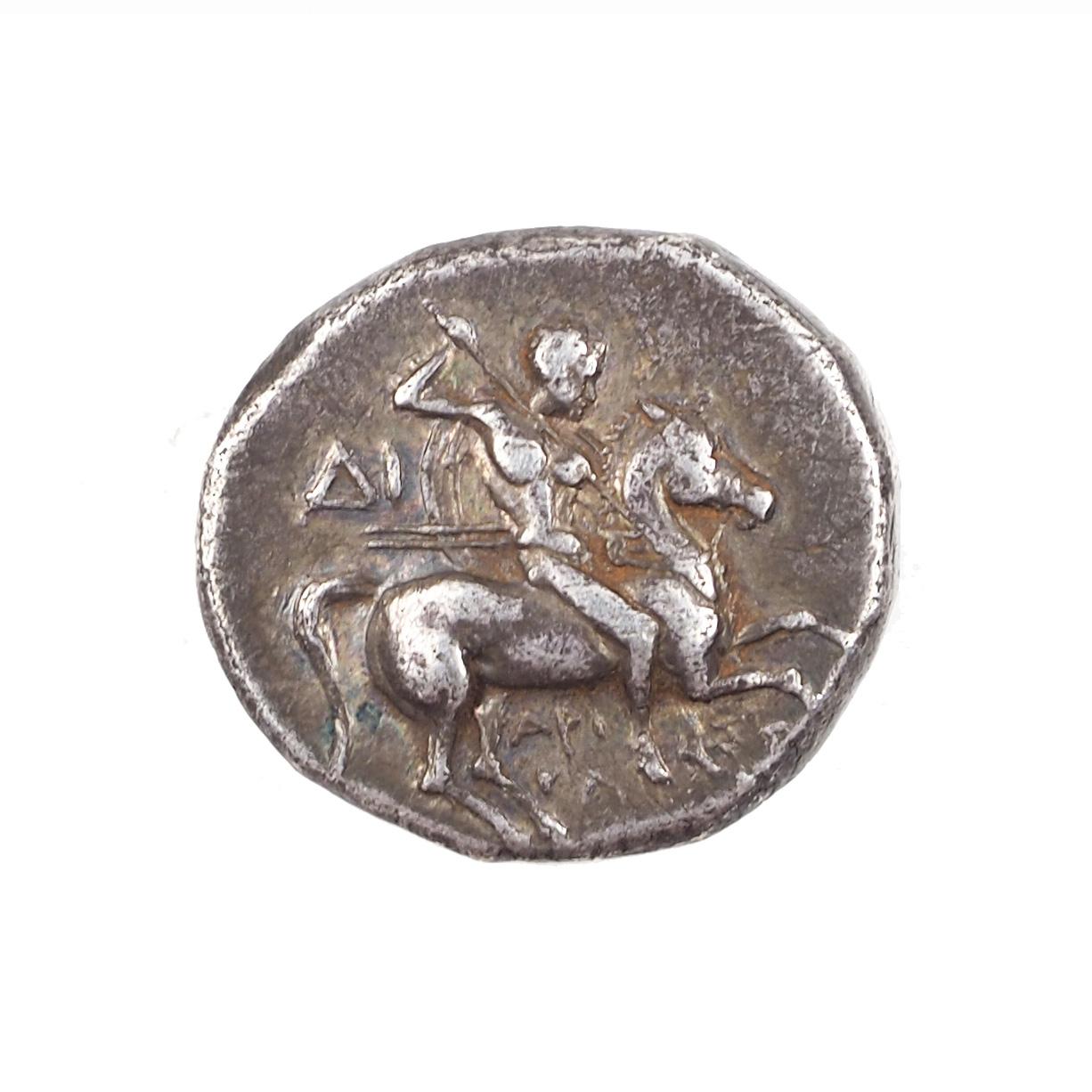 Calabre, Tarente, Nomos, Sous occupation romaine vers -250 -235, Argent, BMC 214