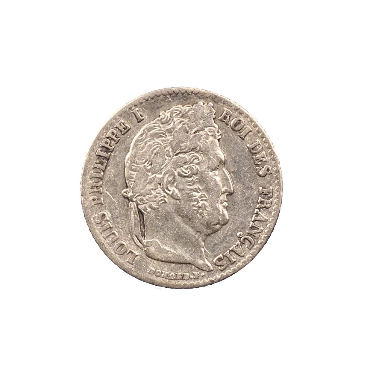 Louis-Philippe, 1/4 Franc 1842 A, Paris, Argent, TTB, Le Franc 166