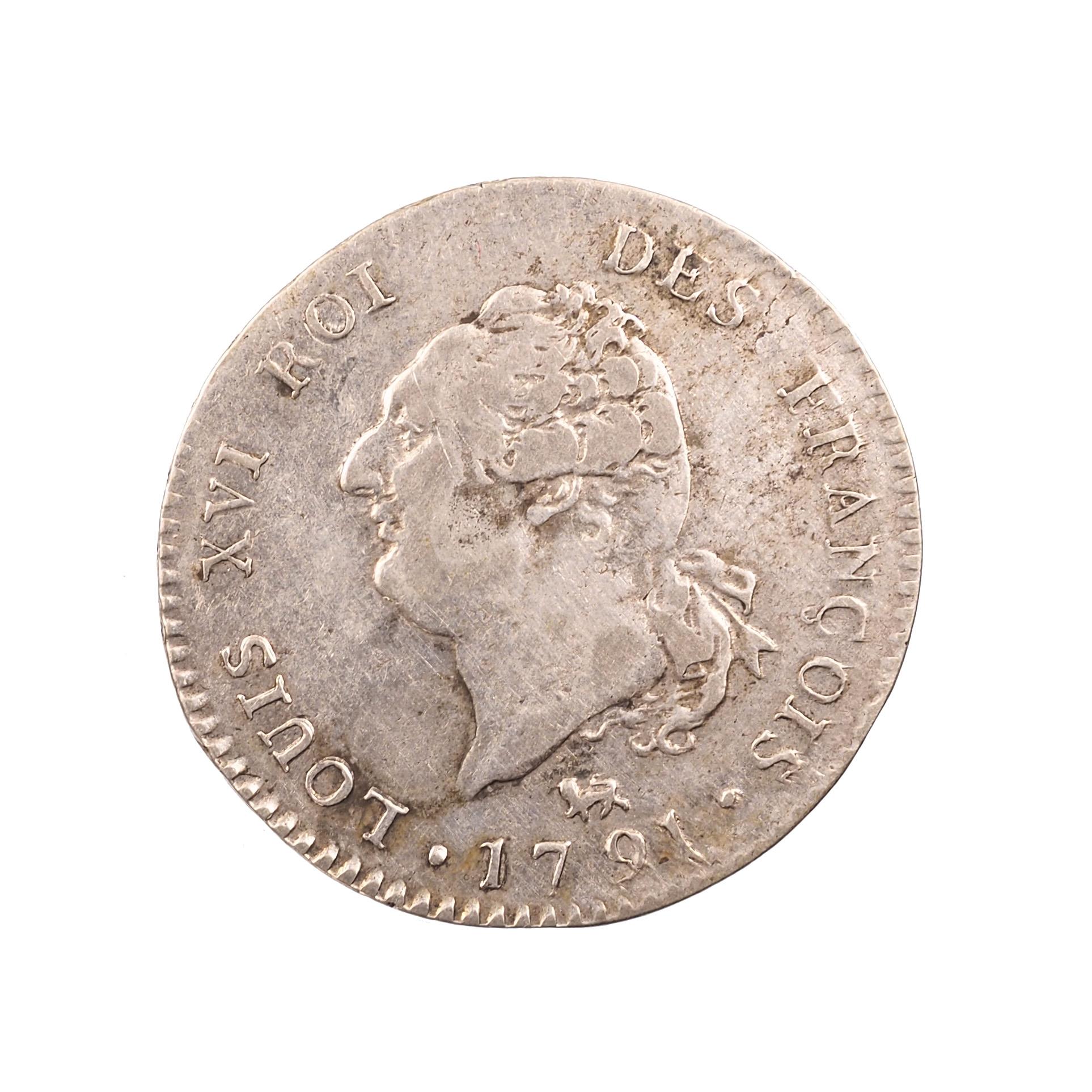 Louis XVI (1774-1792), 30 Sols 1791 A, Paris, 1er Trimestre, Argent, TTB, Gad 39