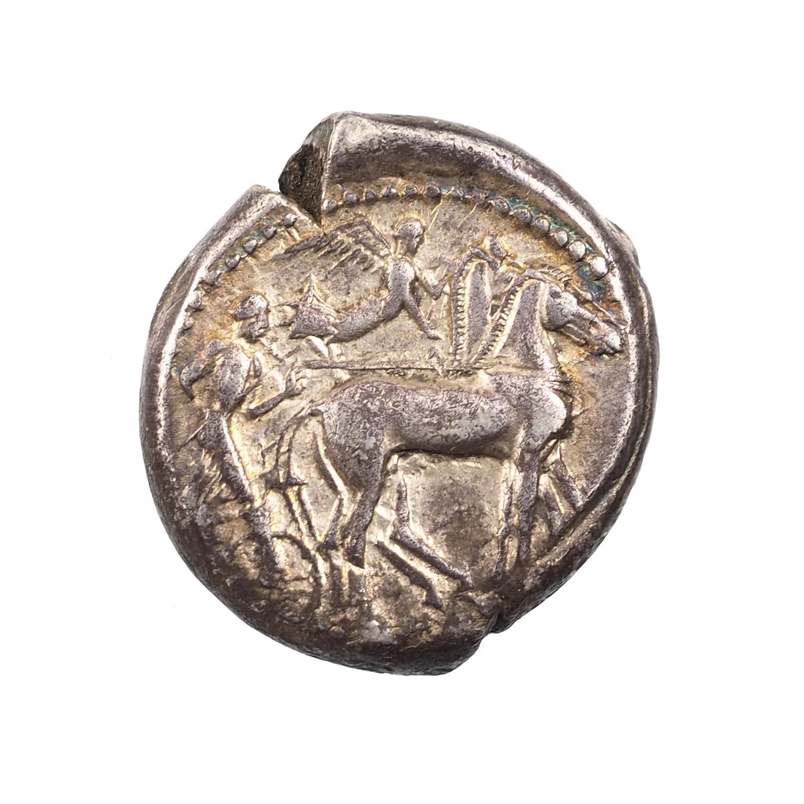 Sicile, Syracuse, Sous Gélon, Tétradrachme, 485-480 avant J.-C, Boehringer 345
