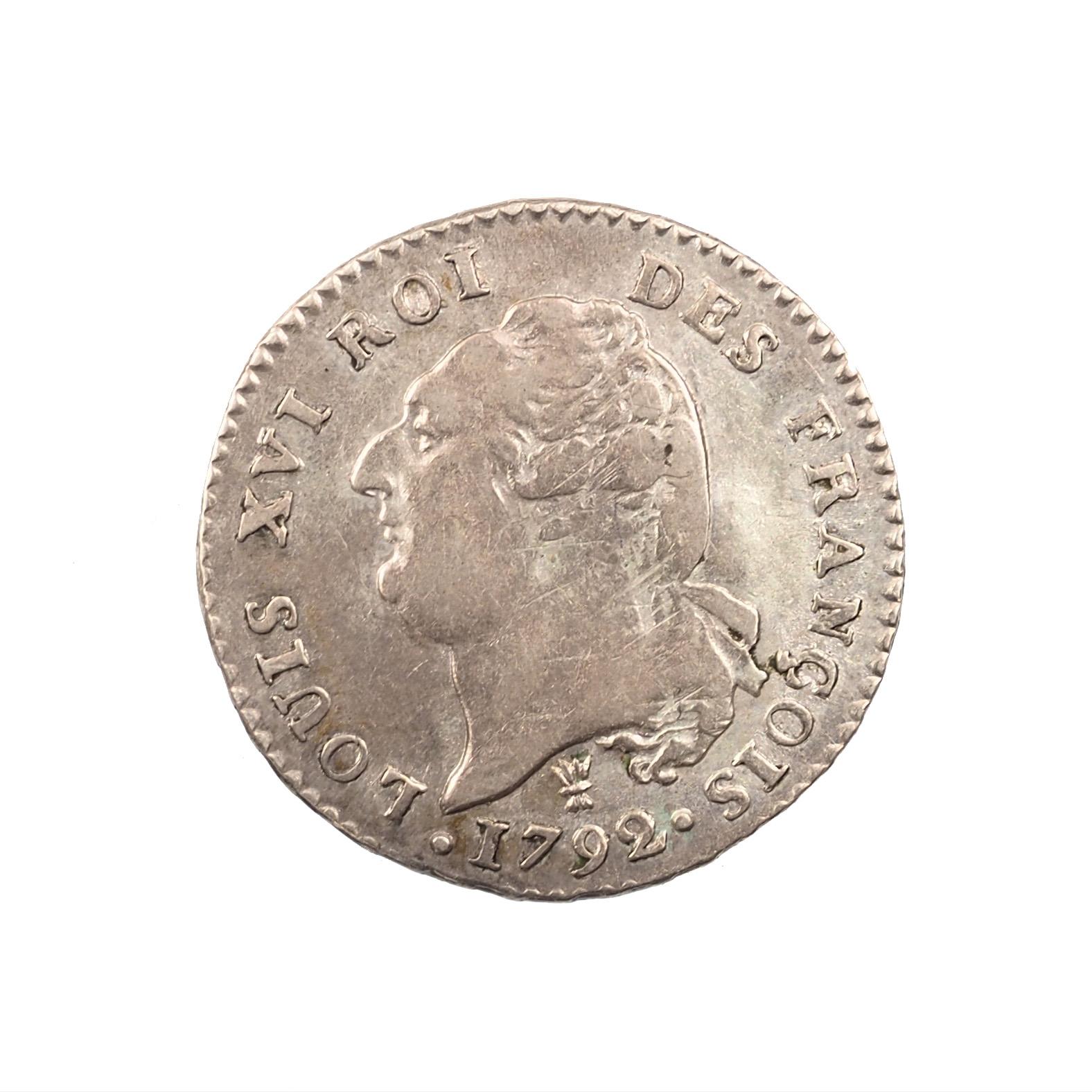 Louis XVI (1774-1792), 15 Sols 1792 I Limoges, Argent, TTB, Gad. 36