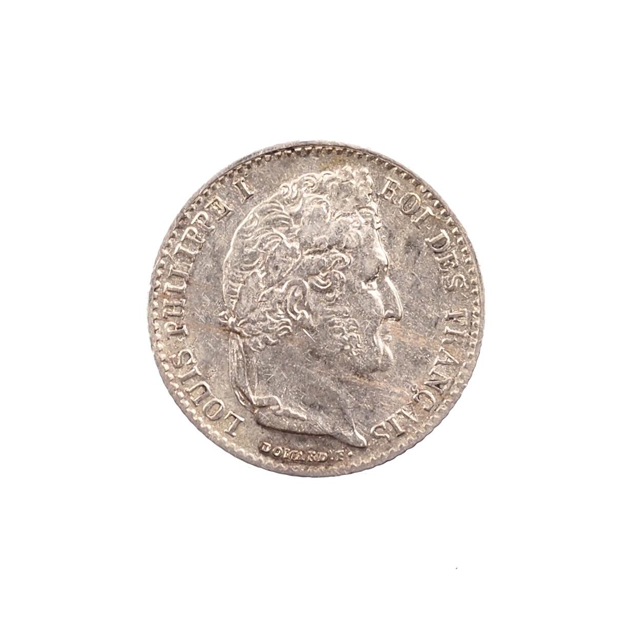 Louis-Philippe, 1/4 de Franc, 1837, Lille, Argent, TTB, Le Franc 166.