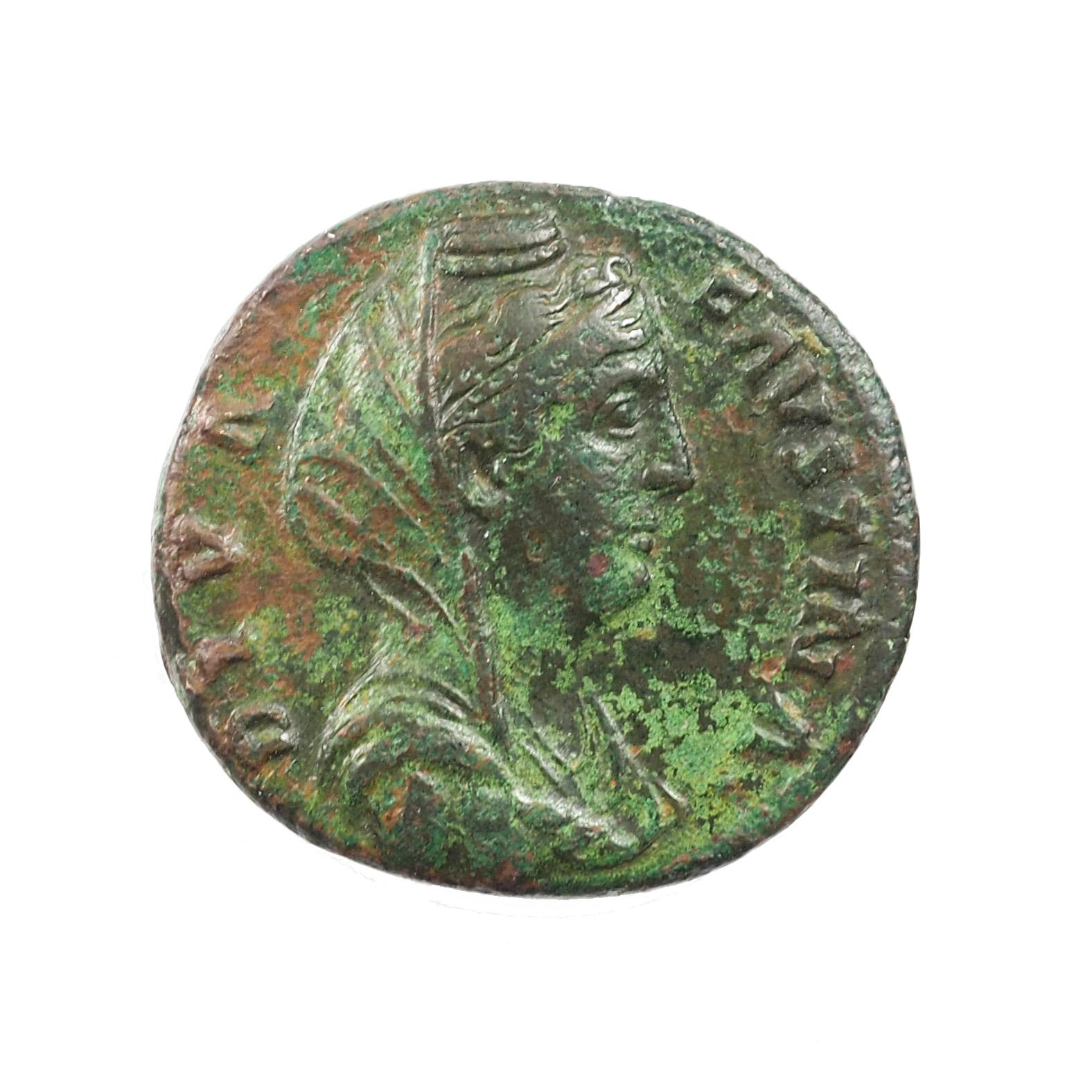 Faustine (138-140), As, CERES, Rome, Cuivre, TTB, RIC 1171b, Rare buste voilé