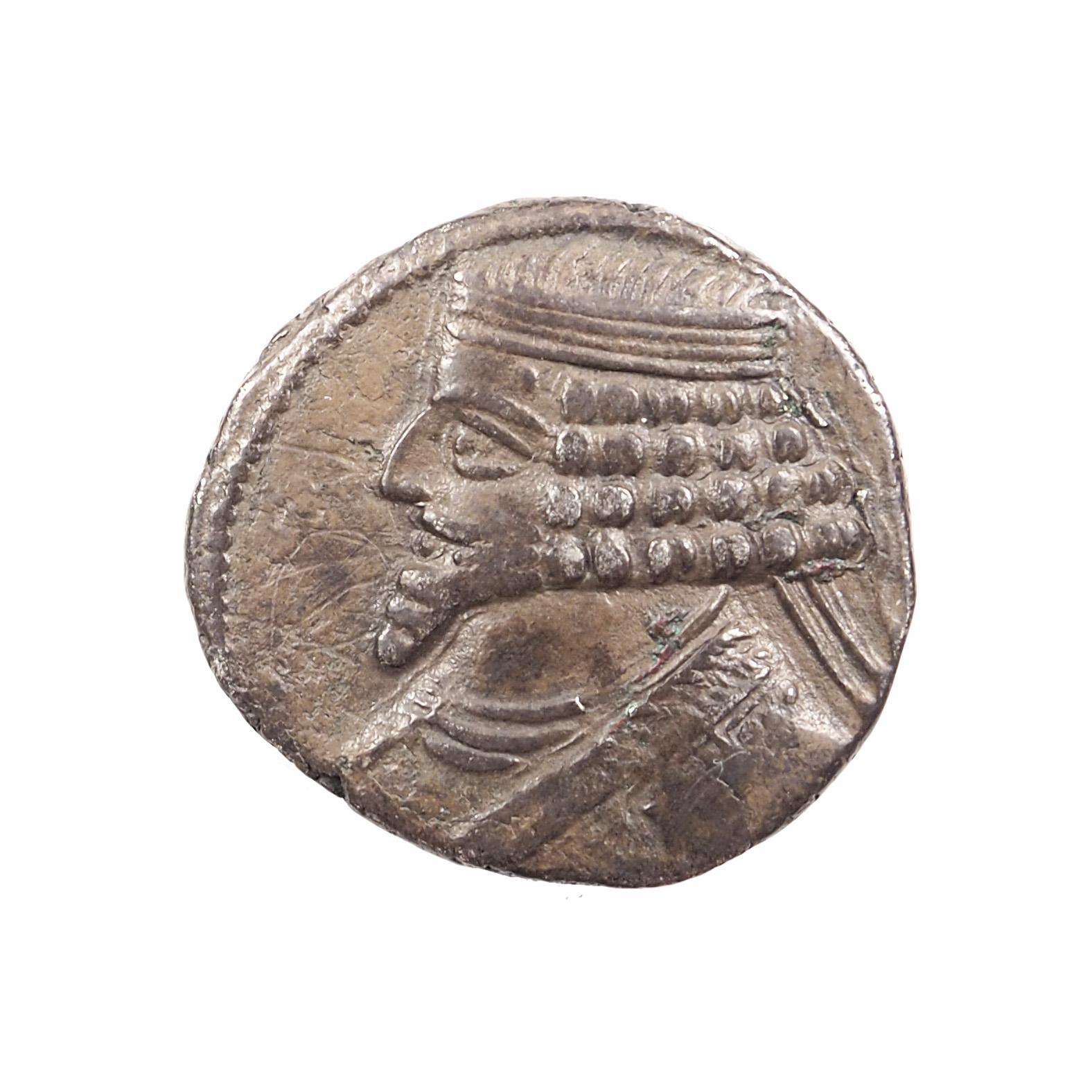 Empire Parthe, Phraates IV (38-2 avt. J.-C.), Tétradrachme, Argent, TTB+, RARE !
