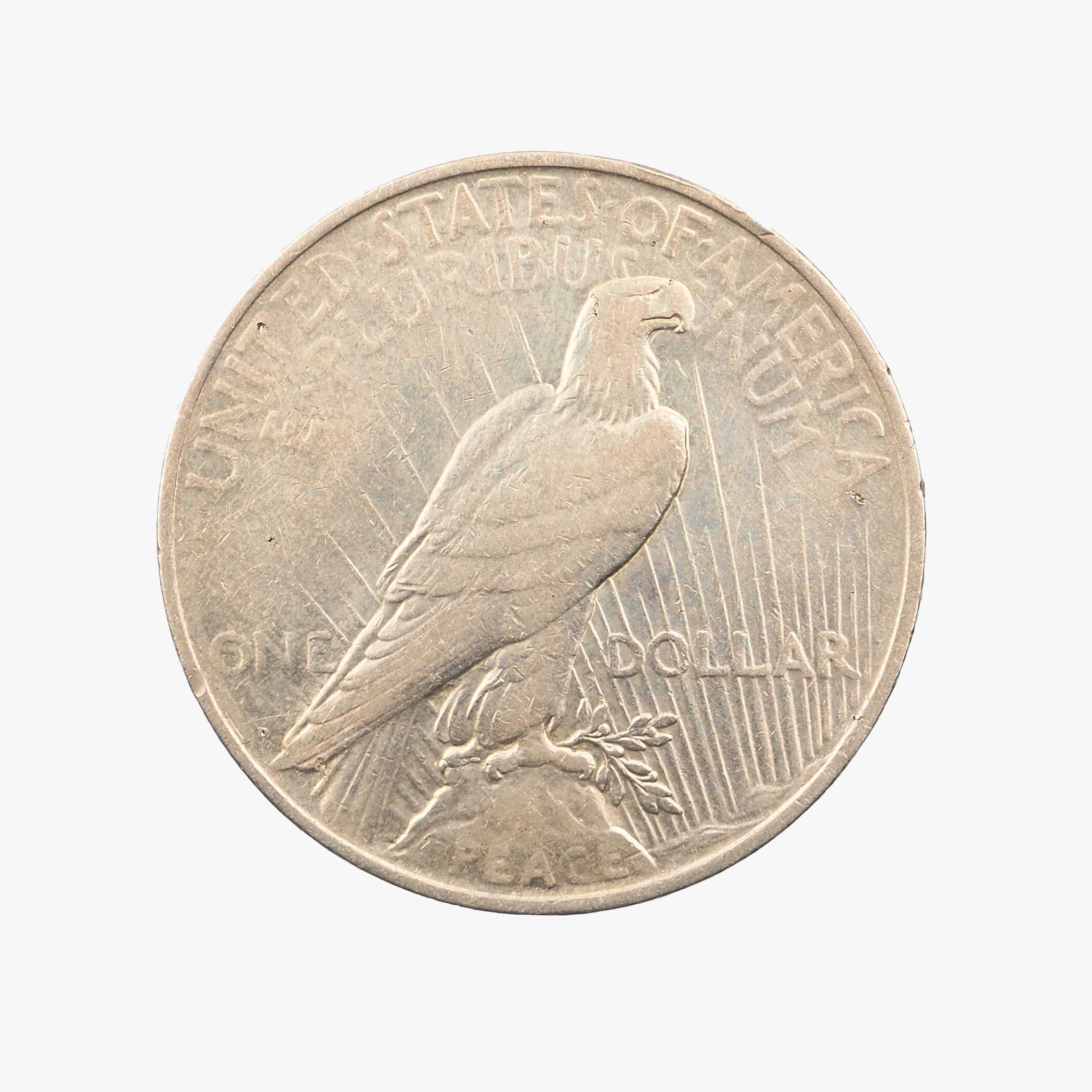 États-Unis, Peace Dollar, 1927, Denver, Argent, TB+