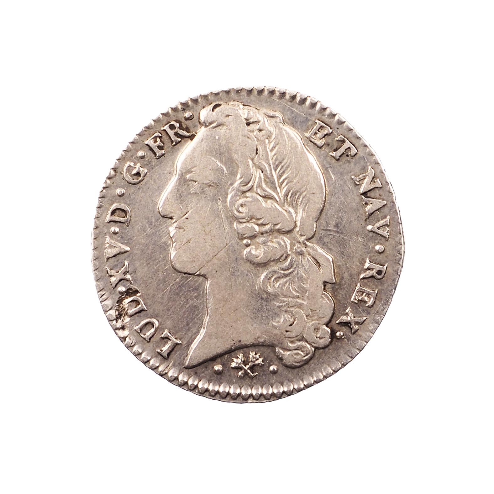 Louis XV, 1/5 Ecu, 1769, Bayonne, 9 sur 6, Argent, TTB, Gad. 299