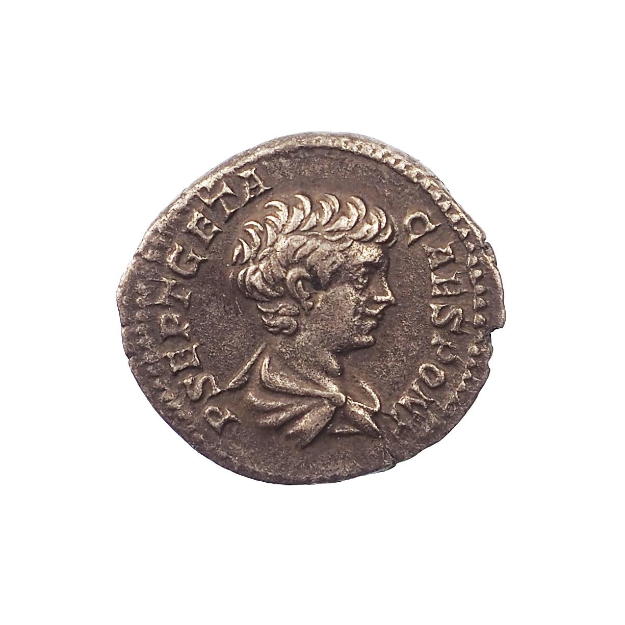 Geta (211), Denier, NOBILITAS, Rome, Argent, TTB+, RIC 13a