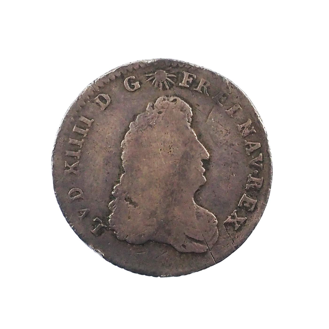 Louis XIV (1643-1715), 1/8 écu de Flandre, 1686 L couronné, TB, Gad. 130