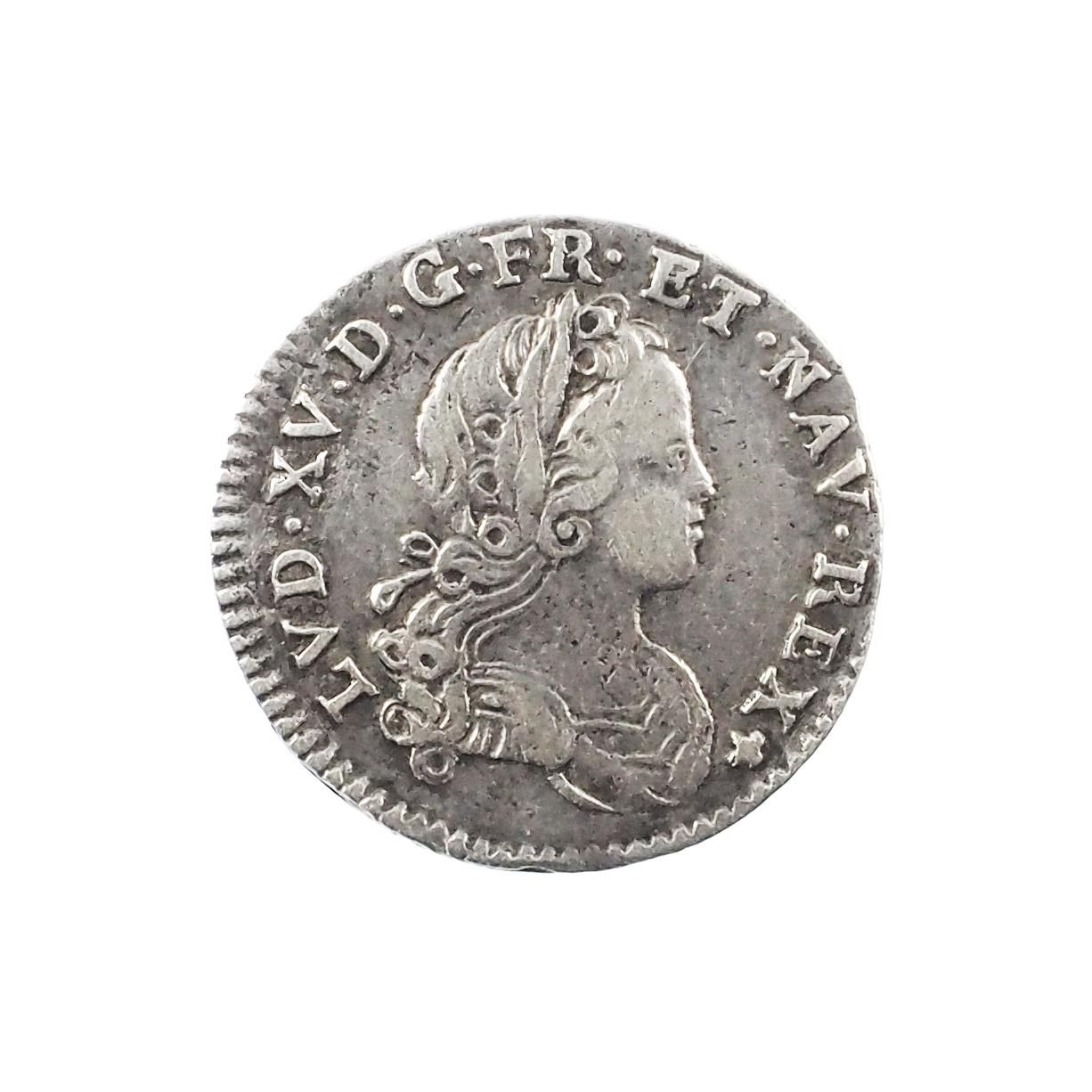 Louis XV (1715-1774), 1/12 écu de France Navarre 1719 A Paris, TTB+, Gad. 287
