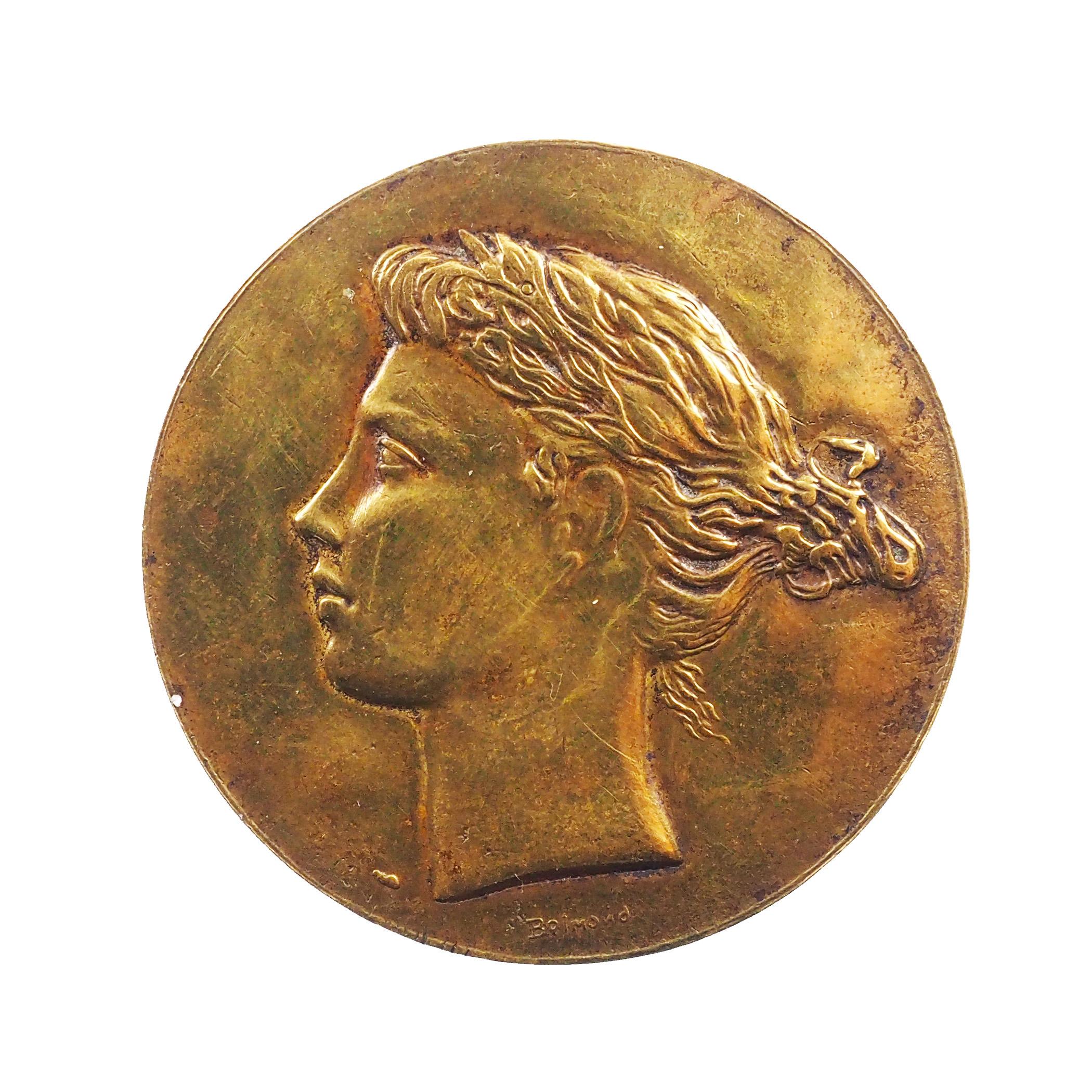 France, Médaille, Alliance Française, Par Belmondo, Bronze, SUP