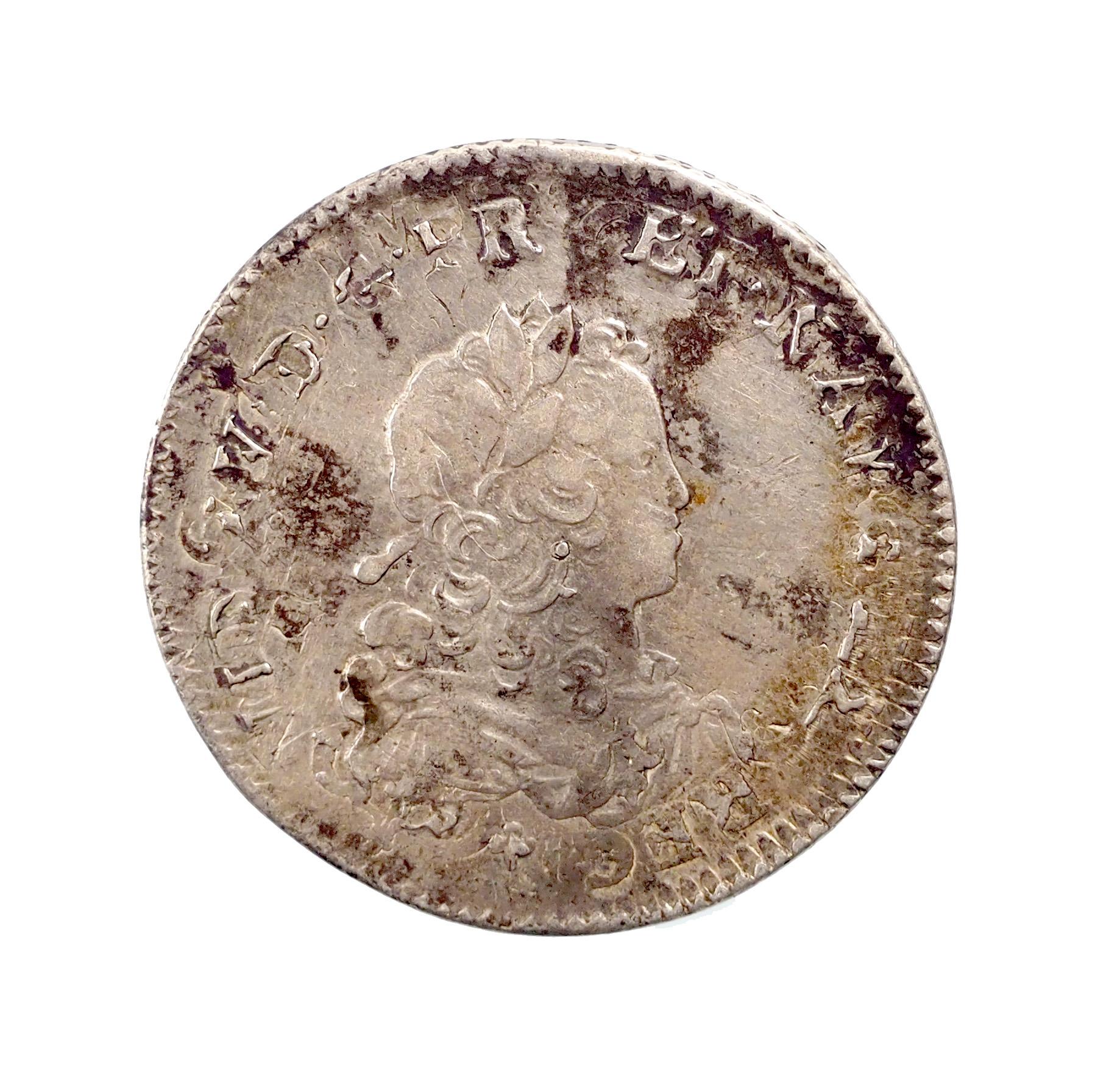 France, Louis XV, 1/3 écu 1721 W Lille, XF, Gadoury 306