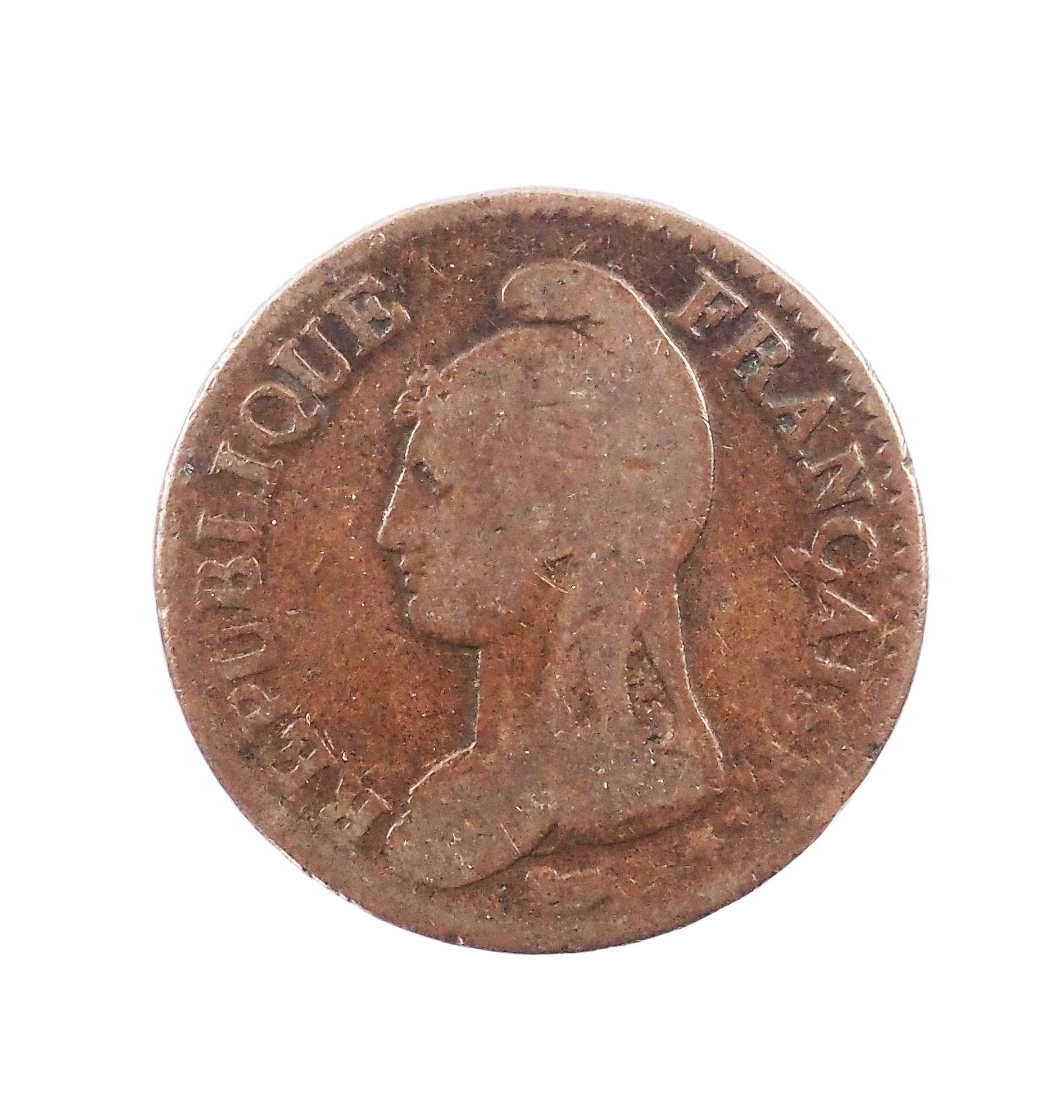 Directoire, Un décime modification du 2 décimes An 4 A Paris, B+, Gad. 186