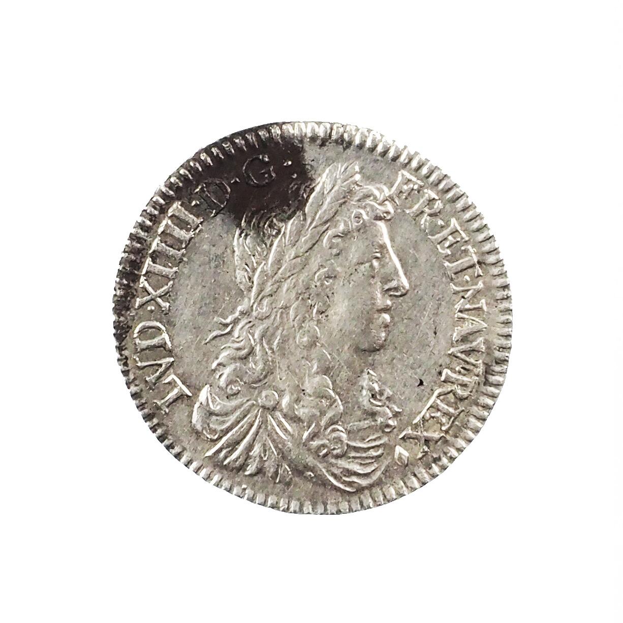 Louis XIV (1643-1715), 1/12 écu 1661 & Aix (oiseau), TTB+, Gad.115