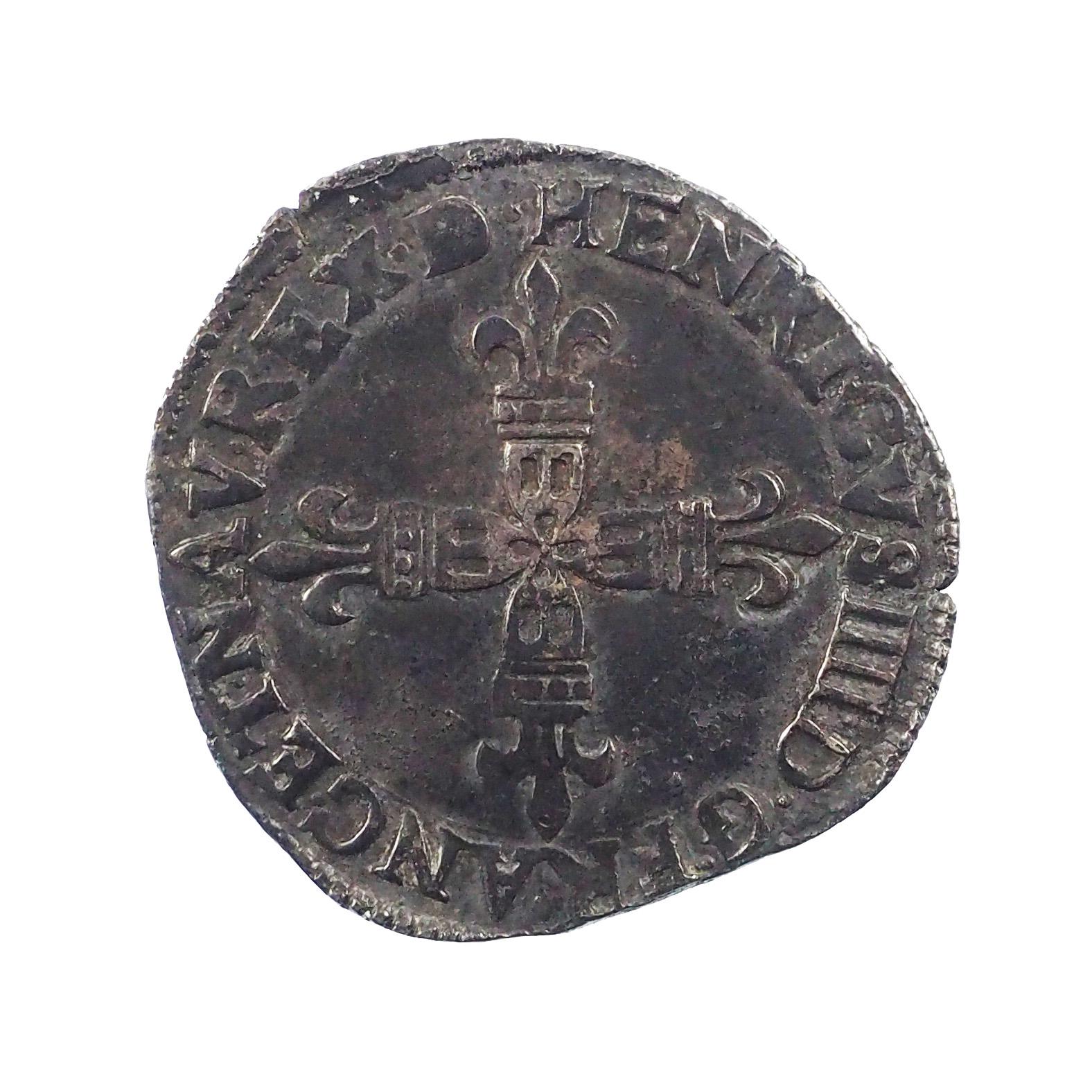 Henri IV (1586-1610), ¼ d'écu de Béarn 1607 Morlaas, 98'468 ex., Duplessy 1240