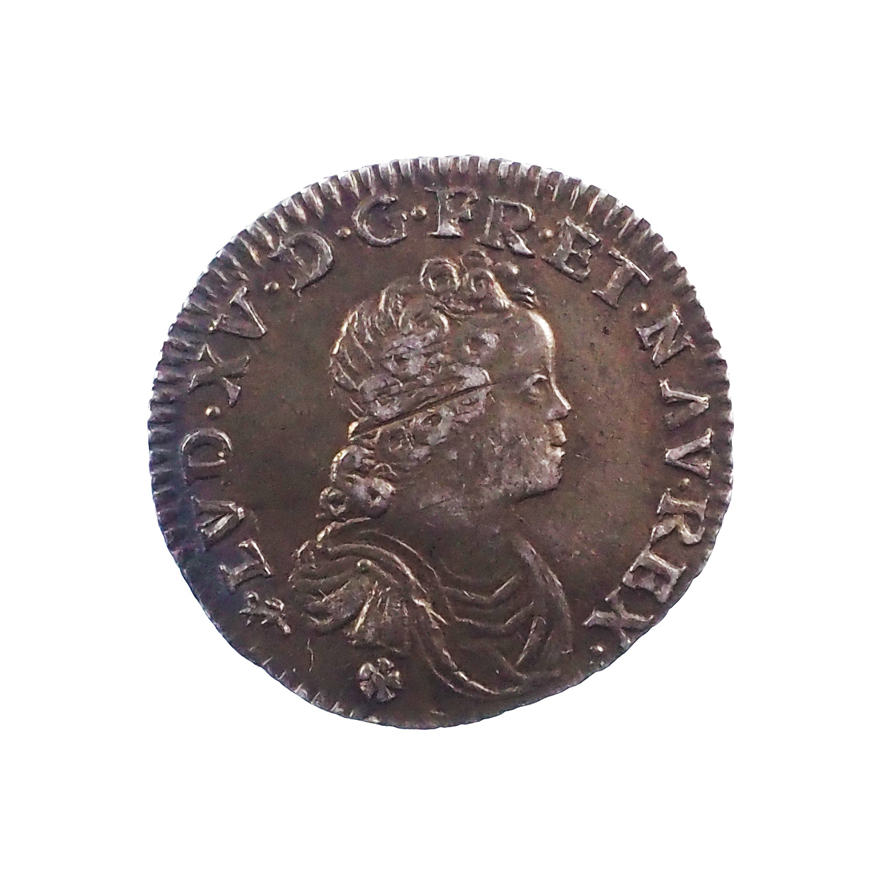 Louis XV (1715-1774), 1/10 écu Vertugadin 1716 T Nantes, TTB+, Gad. 289