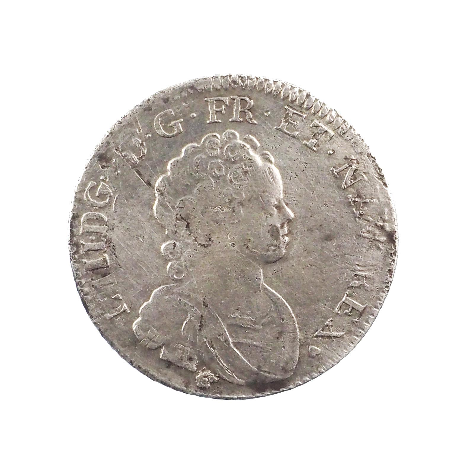 Louis XV (1715-1774), 1/4 écu Vertugadin 1716 G Poitiers, TTB, Gad. 302