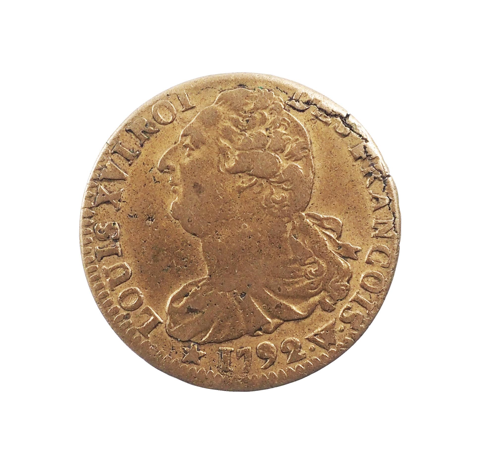 Louis XVI (1774-1792), 2 Sols 1792 an 4 W Lille, TTB, Gad 25