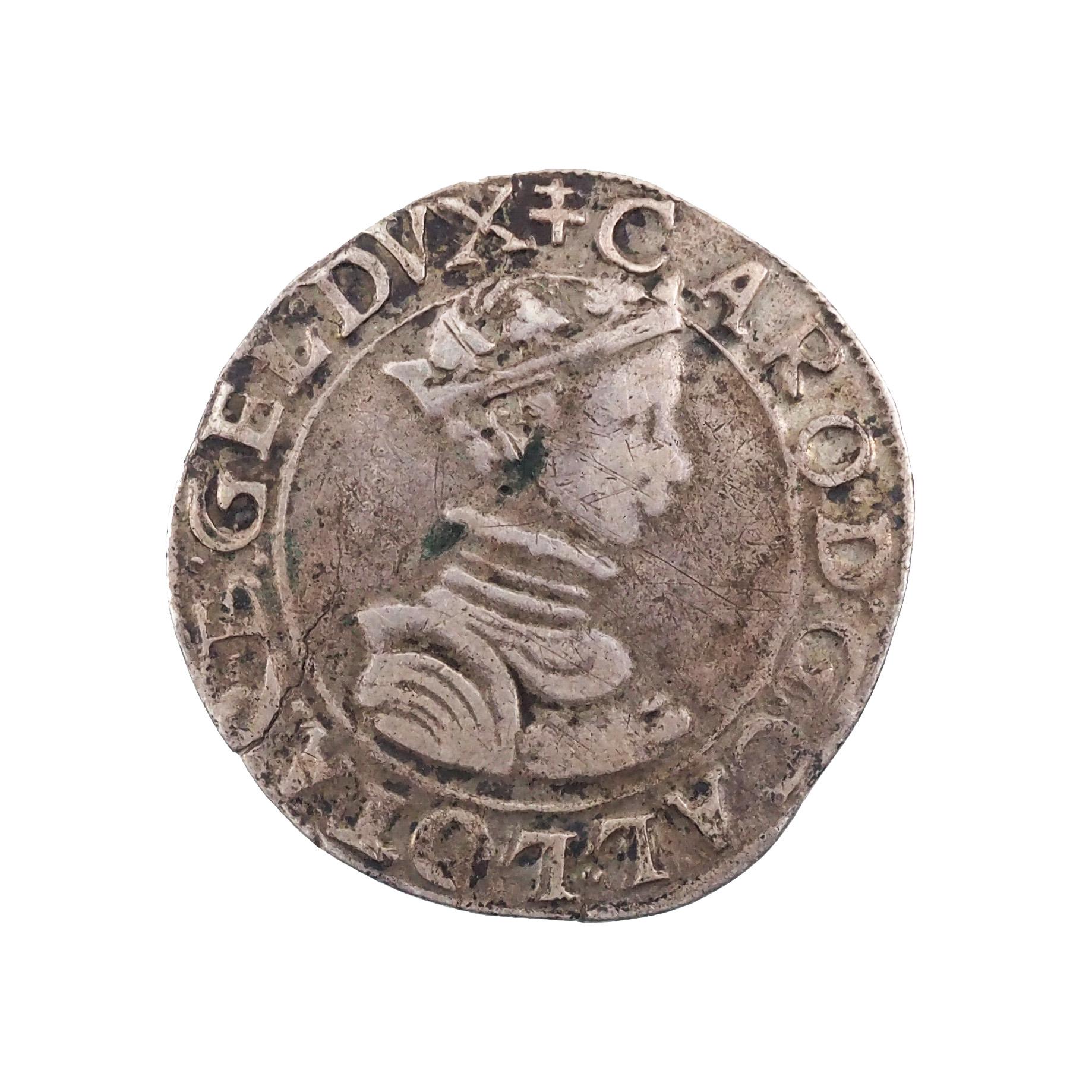 Charles III (1545-1608), Teston au buste juvénile, Nancy, Argent, Flon. 5