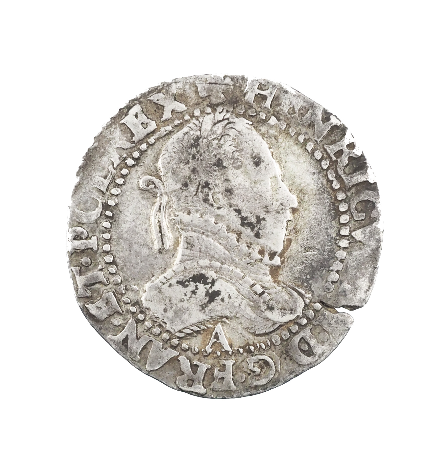 Henri III (1574-1589), 1/2 Franc 1587 A Paris, TB+, Argent, Dup. 1131