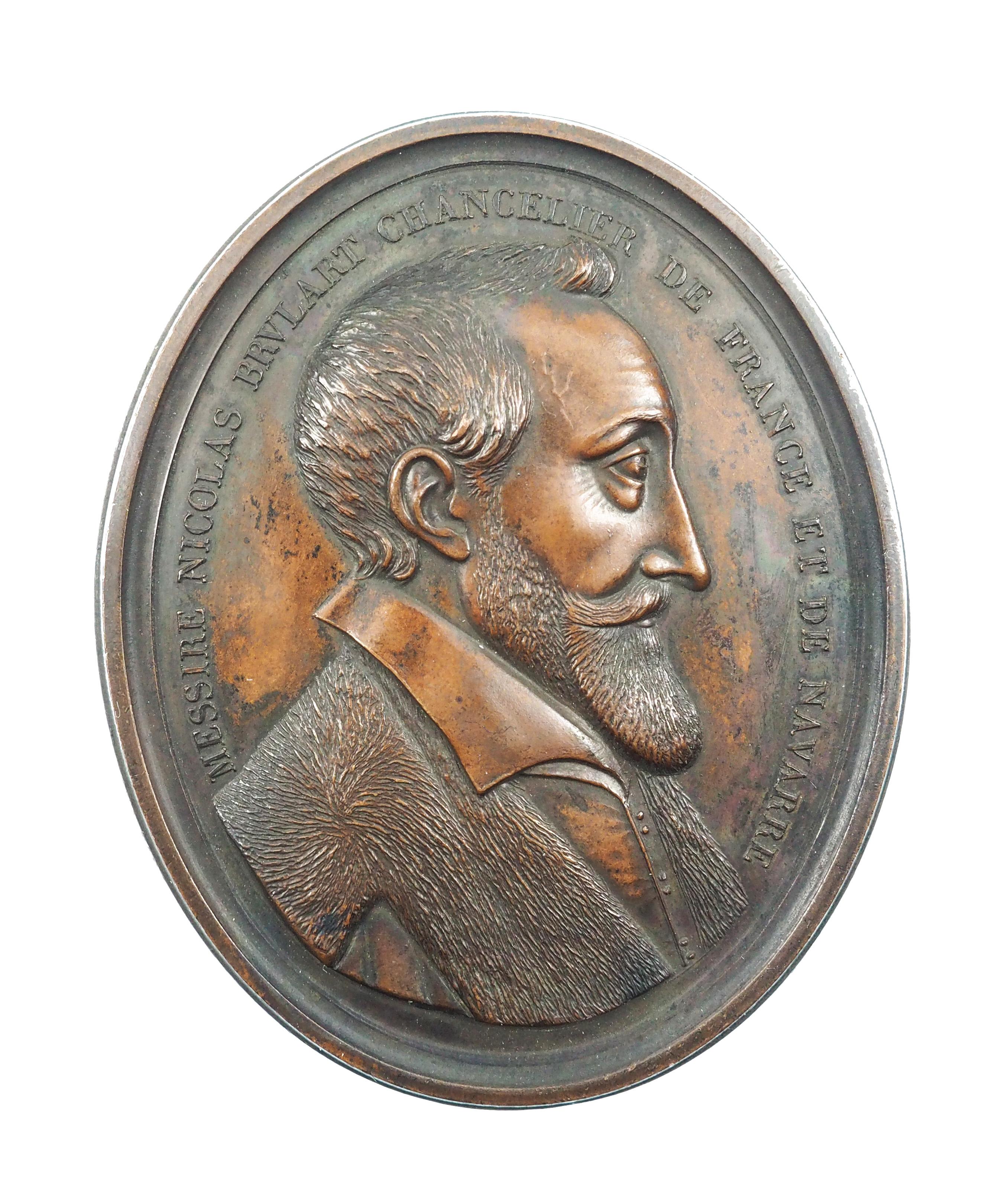 France, Médaille, XVII-XVIIIe siècles, Nicolas Brulart de Sillery, SPL