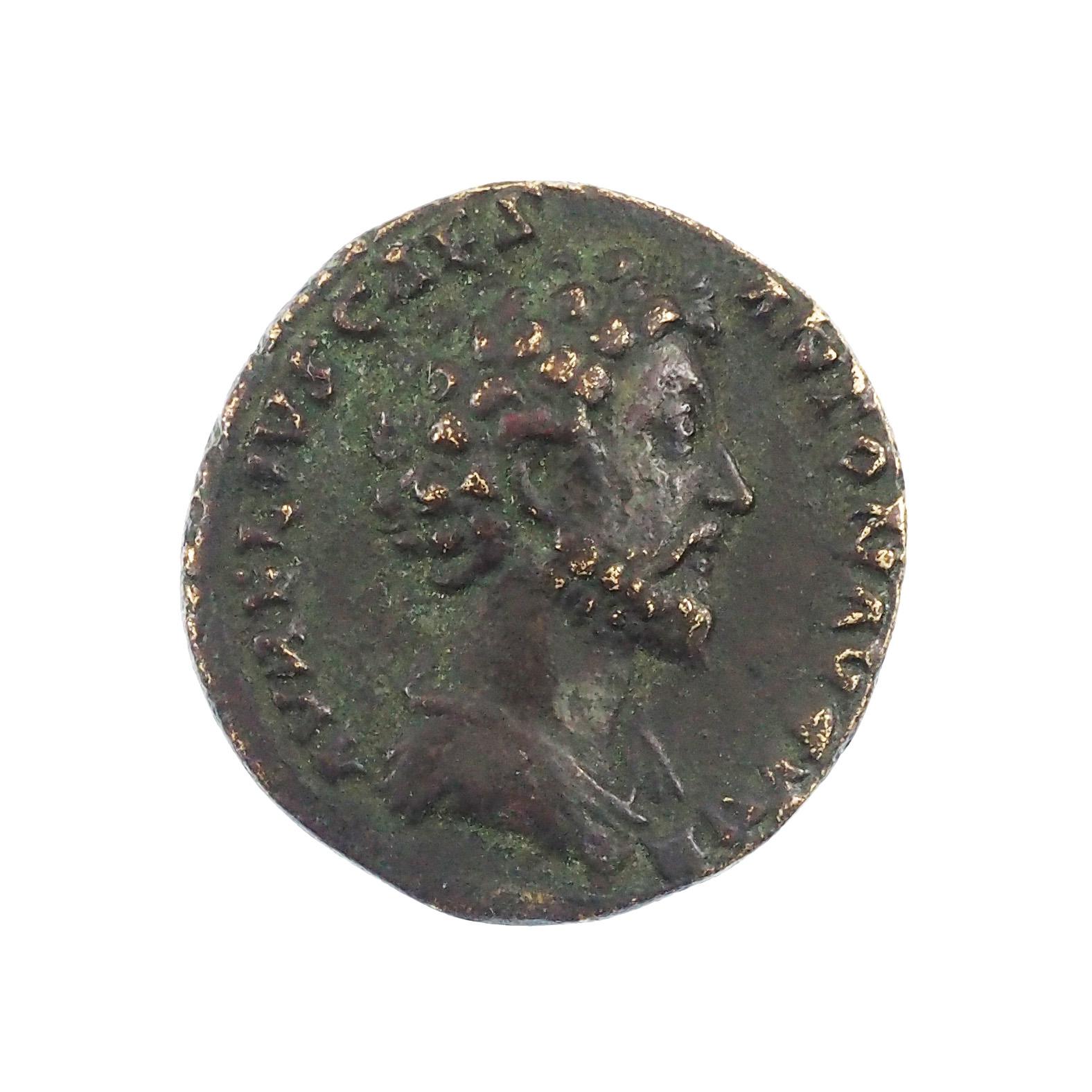 Marcus Aurelius, As, Rome, Cuivre, TTB+, RIC 1350. Qualité rarissime !