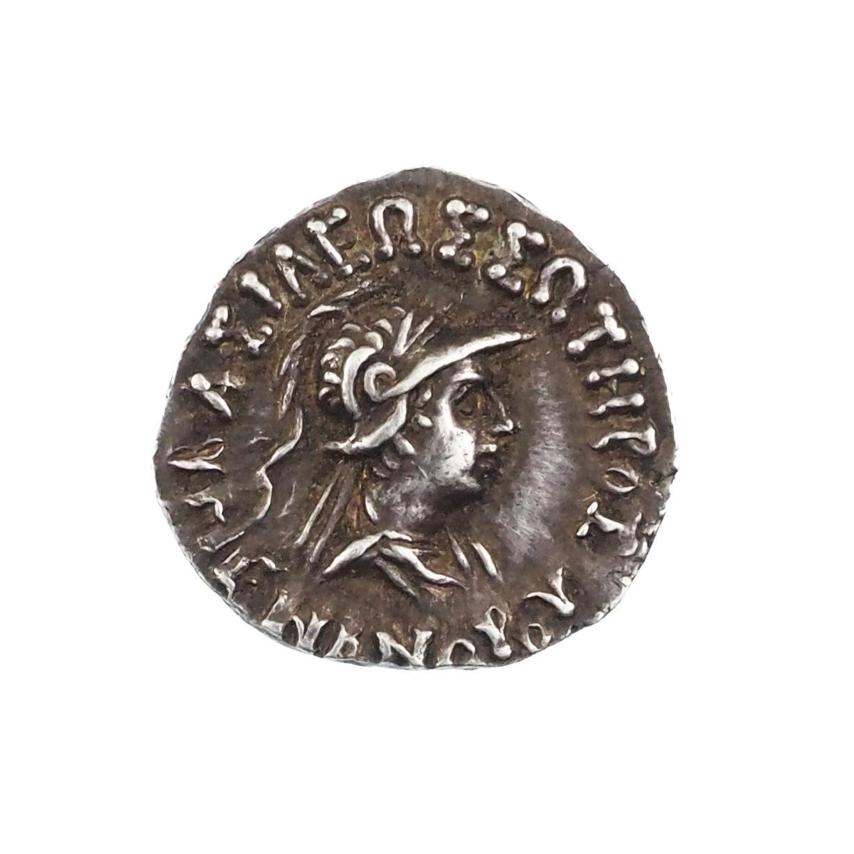 Royaume Bactriane, Ménandre Ier Soter (165-130), Drachme Bilingue, Gandhara