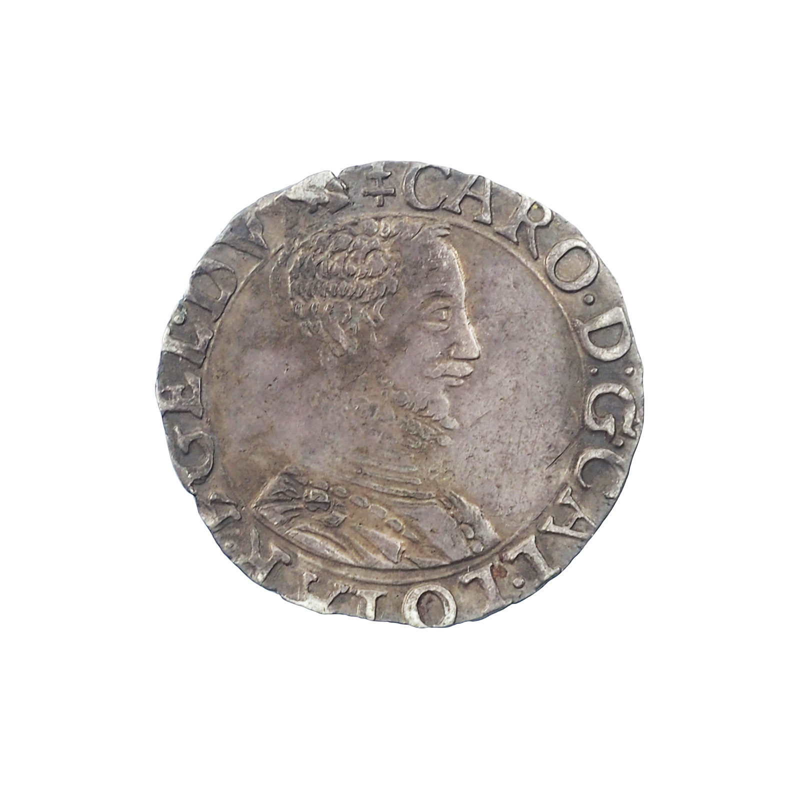 Lorraine, Charles III (1545-1608), 1/4 de teston, Nancy, Bd 1530, QUALITE !