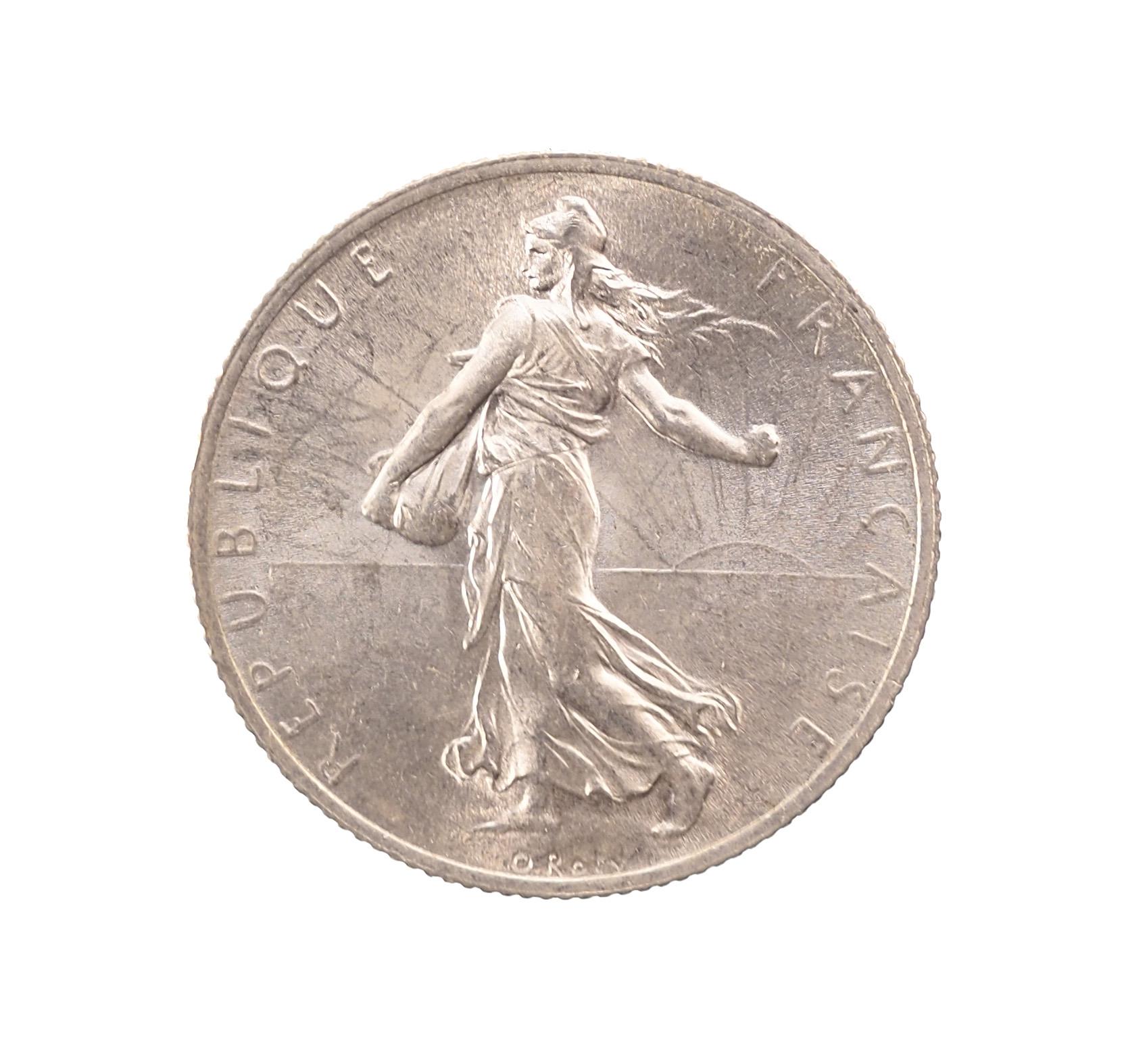 France, 2 Francs 1914 C, Castelsarrasin, Argent, SPL, Gadoury 532, Le Franc 266