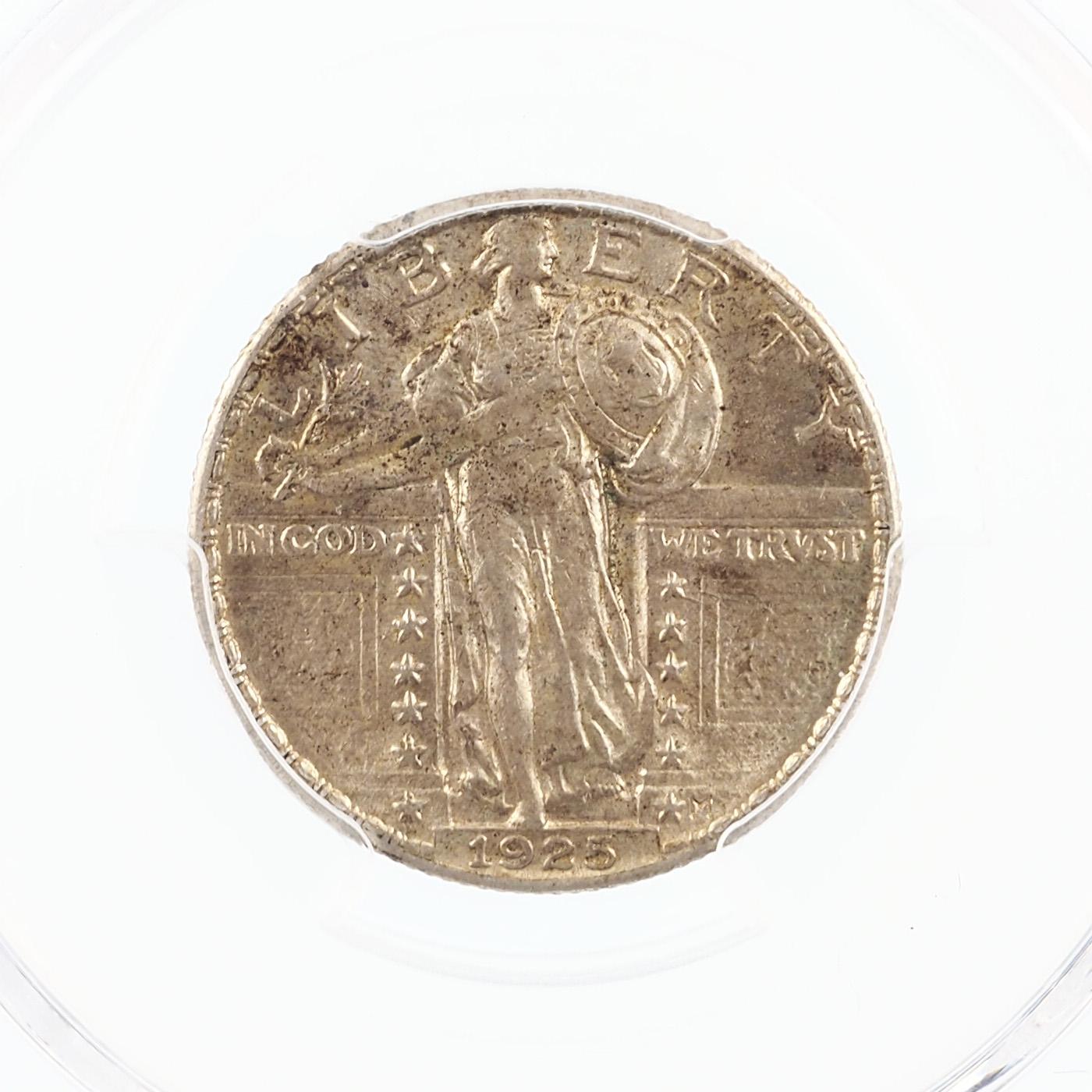 États-Unis, Quarter 1925 Philadelphie, Standing Liberty, KM 145, PCGS AU58