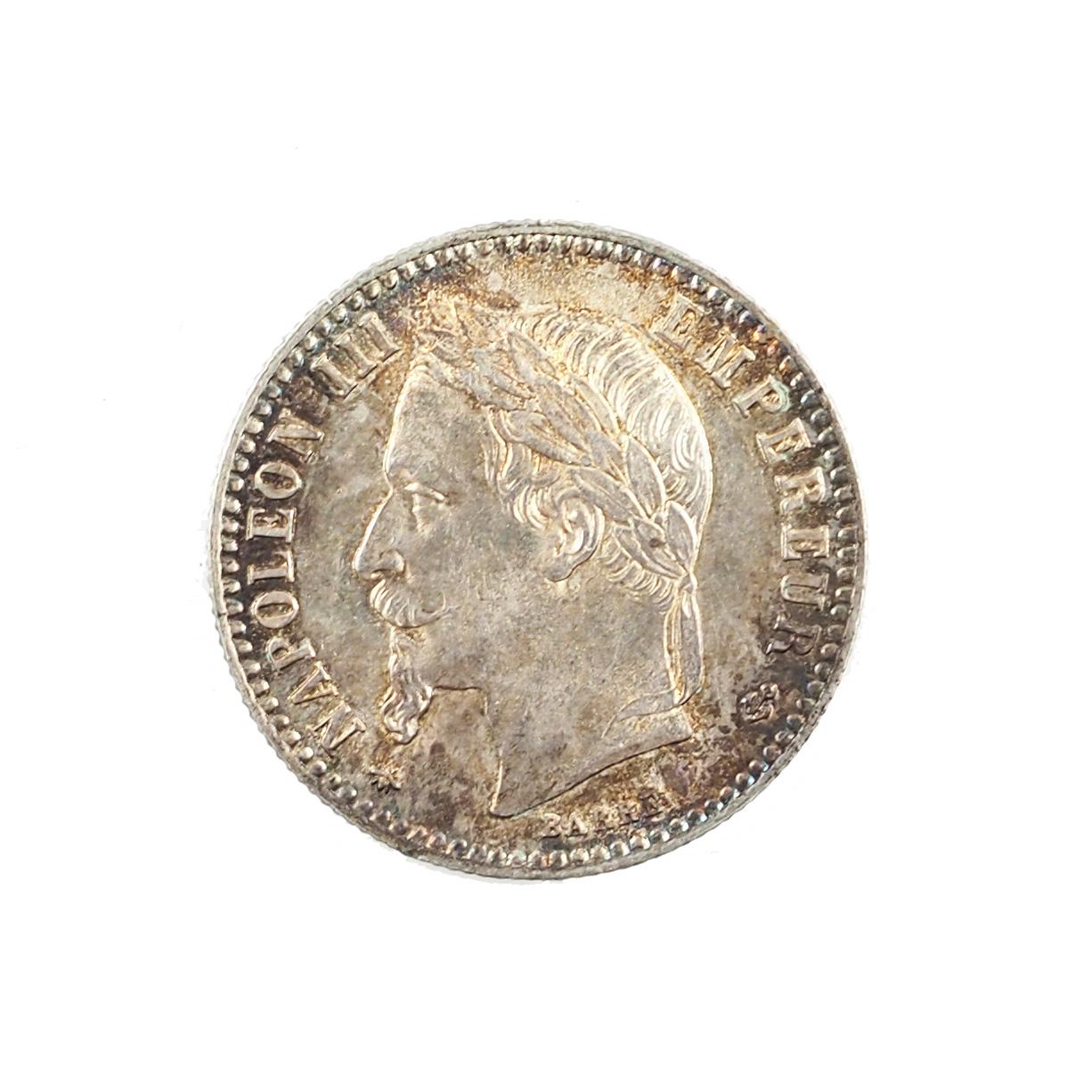 Napoleon III, 50 centimes 1868 A Paris, Argent, SUP+, Patine irisée, LeFranc 188