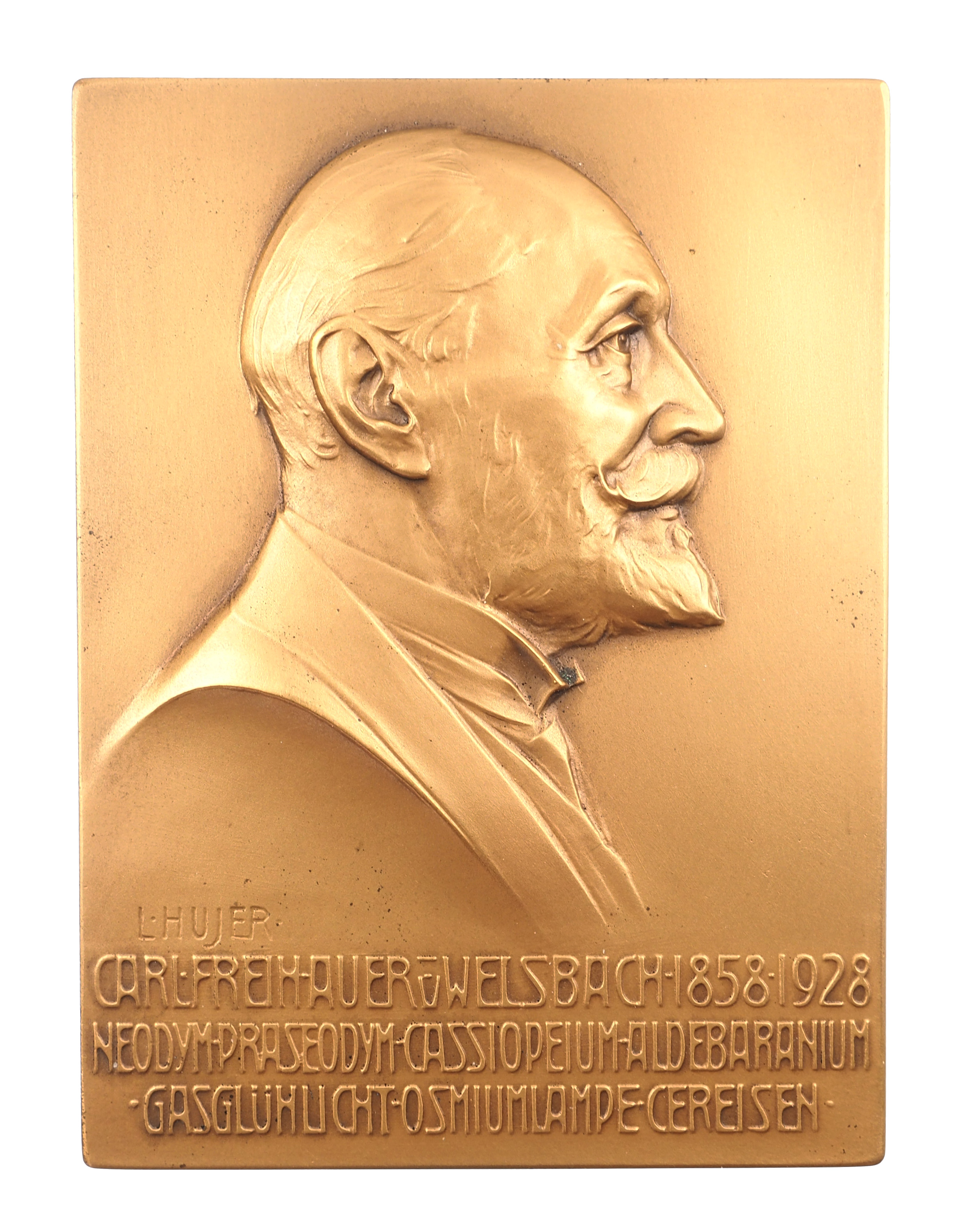 Autriche, Carl Auer von Welsbach, 1928, Bronze, SUP, 263 grammes - 75x101, HUJER