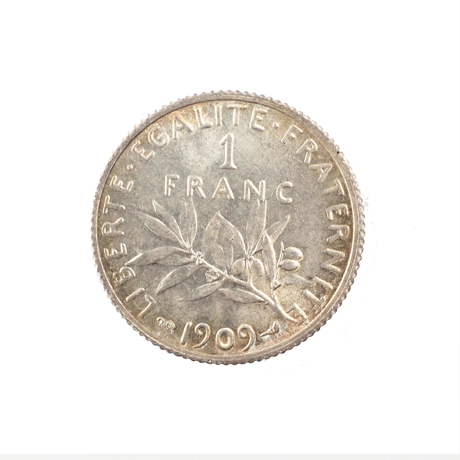 France, 1 Franc 1909, SPL, Argent, Le Franc 217