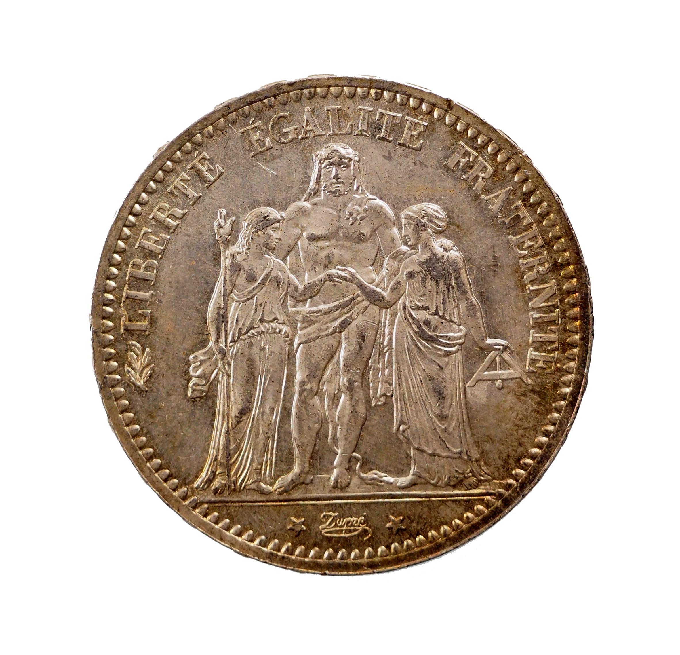 France, 5 Francs 1874 A Paris, SUP