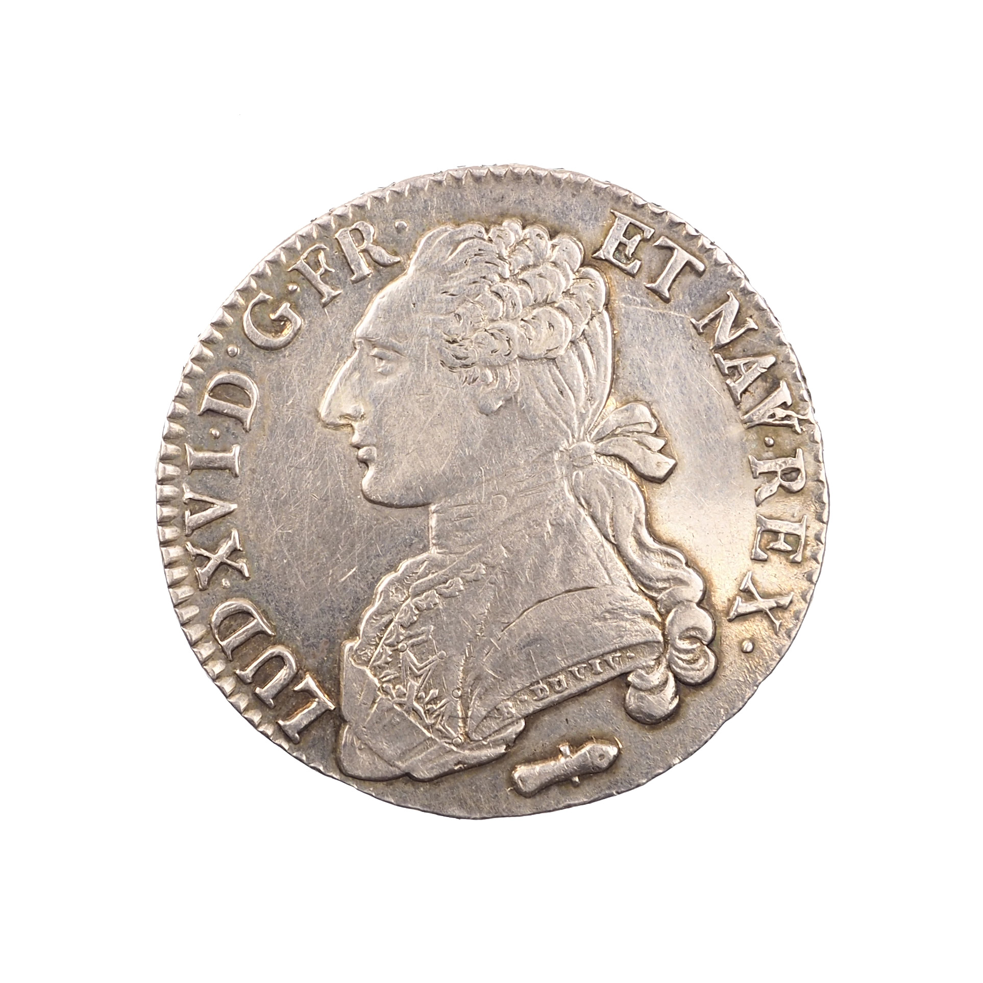 Louis XVI (1774-1792), 1/2 écu 1786 Q Perpignan, TTB+ (nettoyé), Gad. 355