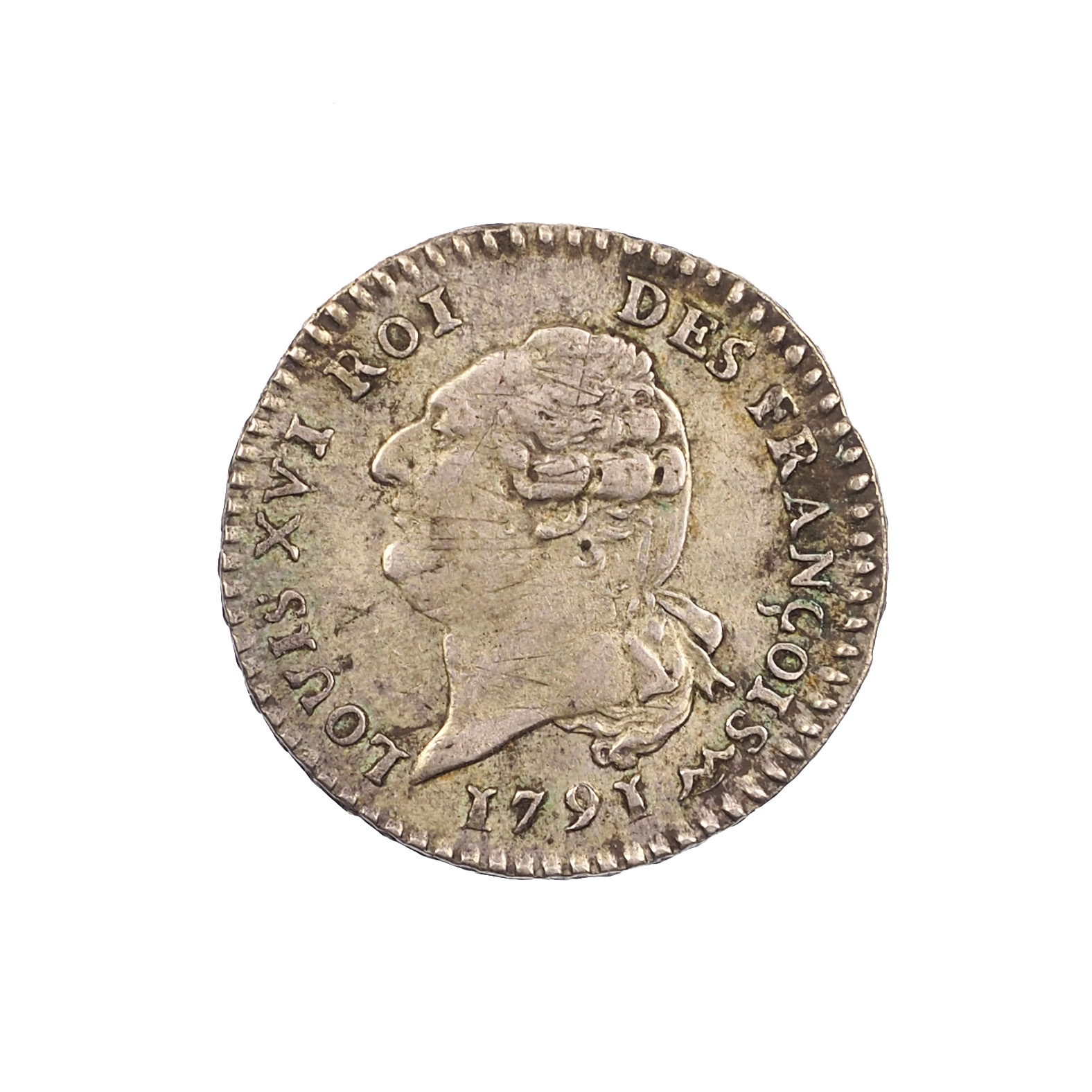 Louis XVI, 15 Sols 1791 An 3 N, Montpellier, TTB+, Gad.36, RARISSIME différent !